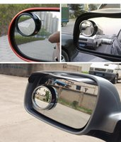 Wholesale Car Rearview mirror small round mirror Blind Spot Mirror Car Backup Mirror degree rotation Car Safety Mirrors Car Spot Mirrors HSJ02