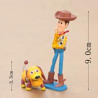 Wholesale 4 cm New Cartoon nine new toy story Hu Dicui buzz lightyear spring dog three eye son do people furnishing articles in a box PVC Dolls S335