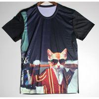 baseball tee shirt designs - w1215 Hot Sale Popular Baseball Cat Funny T Shirt Mens Short Sleeve Cartoon Dog t shirt Novelty Design Cool Summer Boy Fashion Tees
