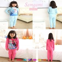 Wholesale Brand New Frozen Pyjamas baby girls clothing sets children kids Cartoon Sleepwear boys pajamas child Anna Elsa princess clothes