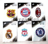 Wholesale mix Football team Badge Iron on Patches of Stickers Soccer team Woven Label Patch DIY Cloth Accessories