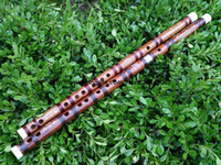 bb flute - LQP004 Freeshipping Chinese Bamboo flute Dizi for professional coffee wire copper joint handmake Bass A bB and Key C D E F G A