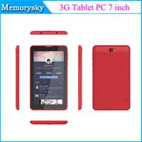Acheter Gps bluetooth pour téléphone android-Hot vente Dual core 3G Tablet PC 7 inc MTK8312 Téléphone tablette Appel comprimé de 1 Go / 8 Go Android GPS double caméra noir ou blanc ou rouge 002758