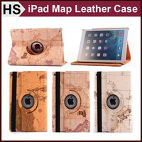 abs maps - Map Pattern Rotating Stand Smart Leather Case For iPad Mini Retina Air Sleep Wakeup Folio Flip Cover DHL