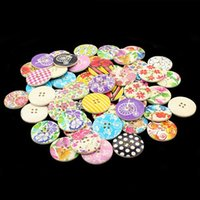 Wholesale 2015 New mm Holes Wood Sewing Buttons Scrapbooking DIY Beads Christmas Gift LE5