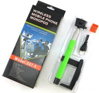 Wholesale hot sale Z07 Wireless Bluetooth Selfie Stick Telescopic Extendable plus Monopod Self timer for iPhone s plus Android Samsung s3 s4 s5