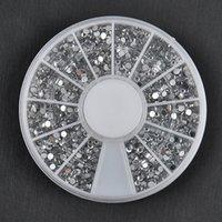 bulk glitter - Bulk mm Sliver d Nail Art Studs Plastic Glitter Charms DIY Decoration Stamping Wheel