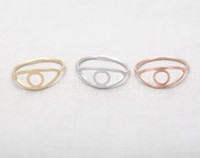 animal treatments - Fashion eye rings drawing surface treatment rings K Gold Plated rings for women Charm eye ball ring party evil eye ring