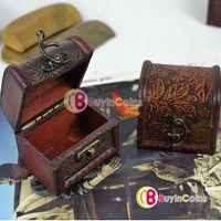 Wholesale Vintage Jewelry Pearl Necklace Bracelet Gift Box Storage Organizer Wood Case