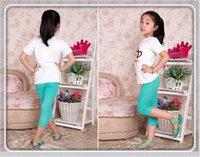 big leg pants - Children Leggings pure color big kids points pants pure cotton leisure children lace tight pants kid tights trousers legging