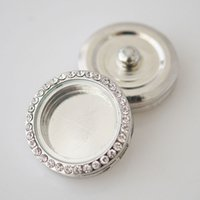 brand name jewelry - Round Magnetic Glass Floating Charm Locket Snap Button Charm Jewelry mm Fit On Popular Brand Name Snap Accessories