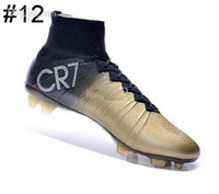 Wholesale Soccer Cleats Ronaldo Carbon Fiber - Ronaldo CR7 exclusive IV Ballon d'Or soccer cleats boots football shoes football boots REAL CARBON FIBER Gold Black 17 color