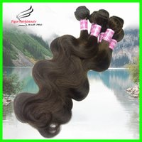 cheap brazilian hair - Cheap Brazilian Hair Body Wave Remy Human Hair Weaves color2 dark brown Mixed Length inch inch