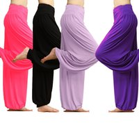 bloomers for women - Women modal yoga pants autumn bloomer for women tai chi pants fitness clothes for women sport full length pants
