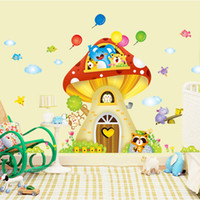 balloons graphics - Latest Cartoon XL Colorful Balloons Elephant Bear Mushroom Wall Sticker for Kids Room Home Decor Decal Sticker for Kindergarten