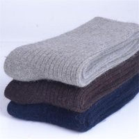 Wholesale 1 pairs mens male socks new winter warm hot color cotton pure color thick warm cotton extended corta simple deodorize W025
