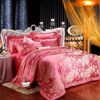 bed-in-a-bag king size - Embroidery Bedding Sets Pillow Cases Cotton Bed Linen BedSheet Quilt Cover Jacquard Bed In A Bag Fashion King Bed Queen Size
