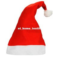 acrylic chairs - 2017 Christmas Hot Sale Christmas Clothing Christmas Hat Non Woven Christmas Hats Christmas Supplies Chair cover