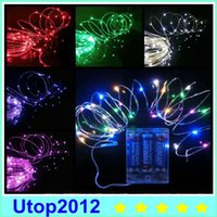 Wholesale 2m leds Christmas lightings decoration wedding m LED light holiday string lights AABattery power operated LED string meter LED Strip