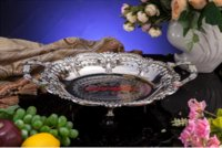 antique fruit bowl - Antique short feet fruit bowl plate for wedding