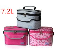 Wholesale 7 L Lunch Bag Picnic Bag Camping Insulated Bento Bags Outdoor Sports Hiking Bag ACB009