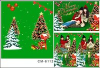 Wholesale Custom X7FT Merry Christmas Tree Decor Background For Children Photos Muslin Computer Printed Vinyl Studio Backdrop