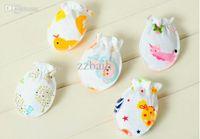 Wholesale Soft Cotton Newborn Baby Infant Anti Scratch Mittens Gloves