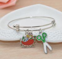 Wholesale New popular charm DIY bracelets for women Alex and Ani bracelet Christmas gift scissors pendant Valentine s day gifts SZ62