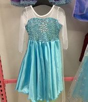 Cheap 2014 Frozen Princess Anna Elsa Blue Dresses With White Lace Wape real-image 2015 Cheap In Stock Flower Girls Pageant Dresses Size 100-140