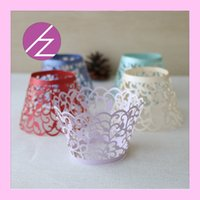 cupcake stand - 120pcs Laser cut Lace Cake Wrapper Cupcake Wrapper set of FOR Wedding christmas Party Decoration