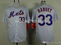 baseball jerseys bulk - 30 Teams New Bulk New York Matt Harvey White Stripe Home Baseball Jersey Good Quality
