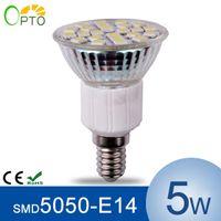 Wholesale 12pcs E14 W LED Spotlight V SMD5050 LED Bulb Lamp Lights Lighting Glass body High Heat Dissipation
