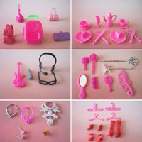 doll accessories - doll accessories Bags Glasses Tableware earphone Necklace Combs Shoes for barbie doll