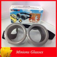 Cartoon Cattivissimo Me 3 3D Glasses Giocattoli Bambini Cosplay Serventi 3 Bicchieri Stage Show Prop Costume per i bambini il regalo di Natale 20PCS DHL libero