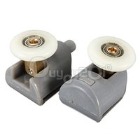 abs shower doors - 2PCS High Quality Nylon Plastic Stainless Steel ABS Brass Shower Door Rollers Runners Wheels Pulleys mm Wheel