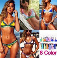 sexy swimwear - 2016 NEW Bikini Sexy Brazilian Style Handmade Crochet Bikini Bandage Neoprene Swimwear Crochet Swimwear Bathing Suit D162