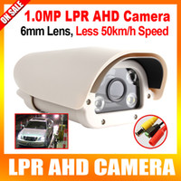 Wholesale 1 Megapixel P High Definition License Plate Recognition Vehicle Analog AHD LPR Camera mm Fixd lens suitable for Parking Toll gate
