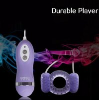 Wholesale 10 Mode Remote Control Male Penis Ring Vibrator Prolong Ejaculation Vibrating Cockrings Sex Toys For Men