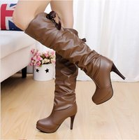 Cheap Qiu dong fine tall canister boots boots with waterproof thickening knee-high boots boots