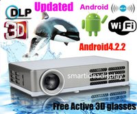 2d to 3d - Free active shutter D glasses Integrated Android4 wifi Full HD D to D mini DLP projector pocket D dlp RGB led projectors proyector