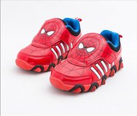 Precio de Zapatos de hombre araña para niños-Zapato de los niños 2015 nuevo hombre de hierro hierro Spiderman Flasher moda deportiva zapatillas de deporte para niños niño deporte zapatos chicos Girls26 -33