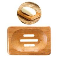 bamboo bath decor - 2015 Brand New Trendy Hot Bath Shower Plate Bathroom Decor Natural Bamboo Soap Dish Holder