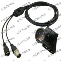 Cheap Mini HD Sony Effio-E 700TVL 6mm Low Illuminator Lens Security CCTV Color camera OSD Cable