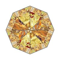 alphonse mucha designs - DIY Alphonse Mucha Amazing Painting Design Umbrella Fold Anti UV fashion hot selling Gift