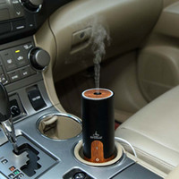 Wholesale wholesales with good design new build aromatherapy machine for car with wooden grain work with USB power work with retail pacakge DHL free