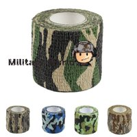 airsoft gun camo - Color Airsoft Tactical Roll Camo Stretch Bandage Camping Hunting Camouflage Tape M Shooting Gun Accessory