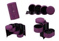 Wholesale 150pcs tier Velvet Roll Up Box Case For Jewelry Ring Bracelet Earring Container Organizer Holder