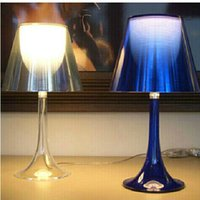 Wholesale Light Drawing Tables Wholesale - Modern Flos Miss Philippe Starck Transparent Miss K Table Lamp Desk Lamp Romantic Night Light for Bedroom Drawing Room 6 Colors Table Light