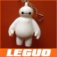 anime - 2015 new MOQ Anime Catoon Big HERO cm Baymax robot white doll key chain Pendant Keychain Backpack hang C
