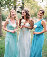 aqua blue wedding dresses - Country Bridesmaid Dresses Cheap New Turquoise Aqua Blue Mint Green Wedding Party Bridesmaids Dress Long Floor Wedding Guest Dress